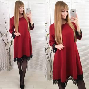 Платье короткое нарядное красное Ф8577