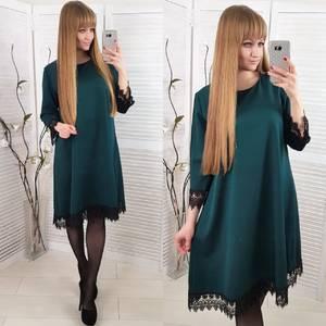 Платье короткое нарядное зеленое Ф8575