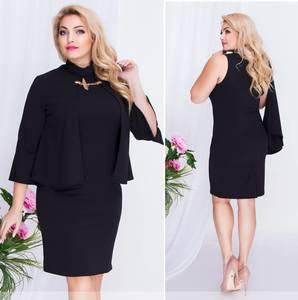 Платье короткое нарядное черное Ф0960