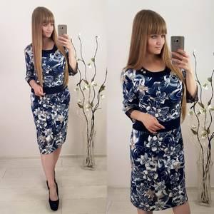 Платье короткое с принтом Ф1507