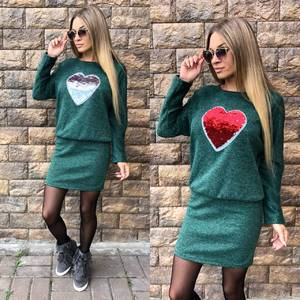 Платье короткое трикотажное современное У9271