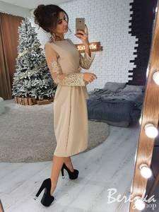 Платье нарядное с длинным рукавом элегантное Ш9164