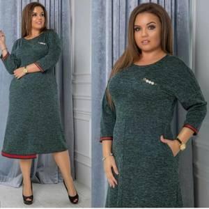 Платье длинное трикотажное однотонное Ф0512