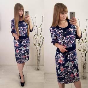 Платье короткое с принтом Ф1508