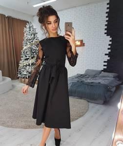 Платье нарядное с длинным рукавом элегантное Ш9165