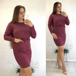 Платье короткое однотонное повседневное У9107