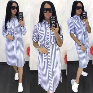 Платье короткое с длинным рукавом Ц7873