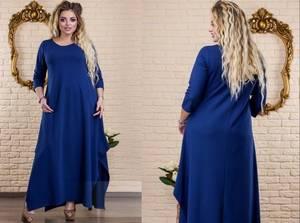 Платье длинное нарядное однотонное Х1975