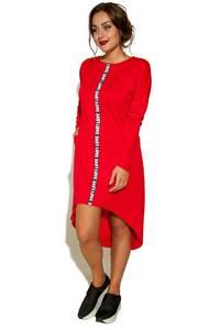 Платье короткое с длинным рукавом повседневное У9378