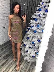 Платье короткое нарядное современное Ф8757