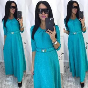 Платье длинное однотонное нарядное Ф8785