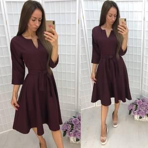 Платье короткое однотонное вечернее У0376