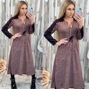 Платье длинное с длинными рукавами нарядное Ф7026