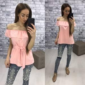 Блуза  летняя розовая У1611