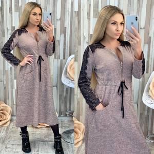 Платье длинное с длинными рукавами нарядное Ф7027