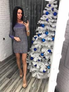 Платье короткое вечернее современное Ф8760