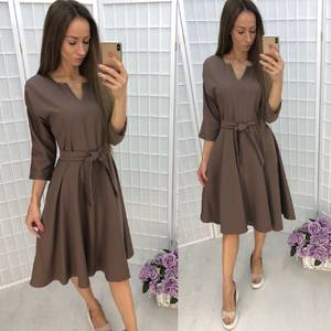 Платье короткое однотонное вечернее У0375