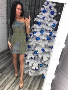 Платье короткое вечернее облегающее Ф8763