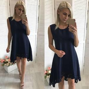 Платье  короткое вечернее однотонное У1445