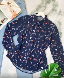 Рубашка с длинным рукавом с принтом А29454