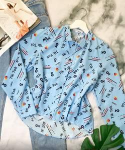 Рубашка с длинным рукавом с принтом А29455