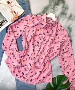 Рубашка с длинным рукавом с принтом А29456