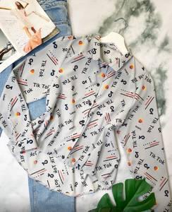 Рубашка с длинным рукавом с принтом А29457