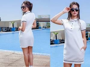 Платье короткое белое летнее Х8691