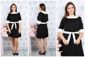 Платье короткое летнее деловое У9282