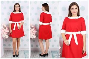 Платье короткое летнее деловое У9283