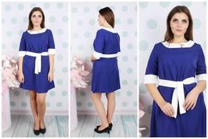 Платье короткое летнее деловое У9284