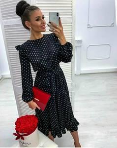 Платье коктейльное нарядное с длинным рукавом современное Ш9141