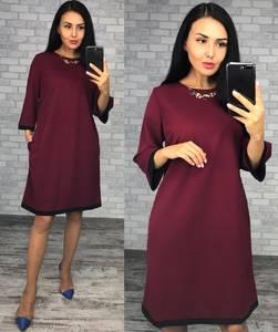 Платье короткое вечернее однотонное Ф1516
