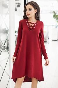 Платье короткое современное красное Ф3756