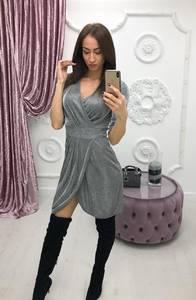 Платье короткое вечернее с рукавом 3/4 Ф6226