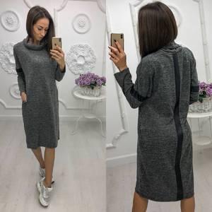 Платье короткое трикотажное однотонное Ф0508