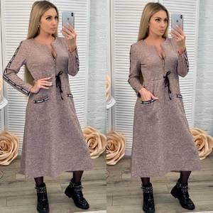 Платье длинное с длинными рукавами нарядное Ф7030