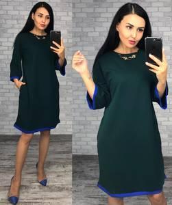 Платье короткое вечернее зеленое Ф1517