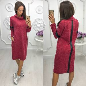 Платье короткое трикотажное однотонное Ф0509