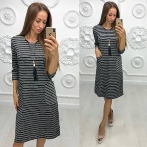 Платье короткое трикотажное повседневное Ф1949