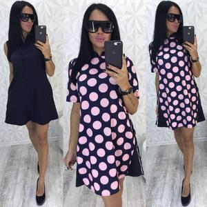 Платье Двойка короткое повседневное с принтом У9740