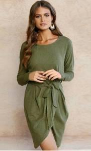 Платье короткое нарядное с длинным рукавом Ф1371