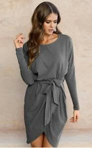 Платье короткое нарядное с длинным рукавом Ф1372