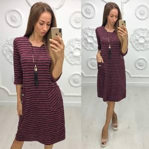 Платье короткое трикотажное повседневное Ф1951