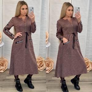 Платье длинное с длинными рукавами нарядное Ф7028