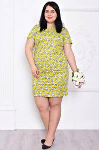 Платье короткое с принтом нарядное С9203