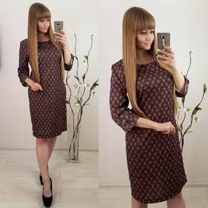 Платье короткое с принтом Ф3074