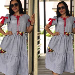Платье короткое с принтом летнее Т9922