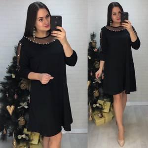 Платье короткое нарядное однотонное Ф8431