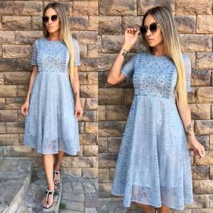Платье короткое коктейльное однотонное Т9767